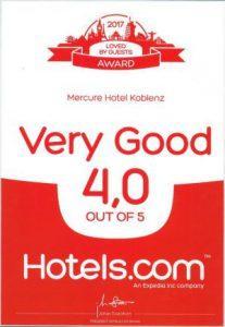 Auszeichnung Mercure Koblenz